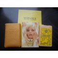 Мини-парфюм в кожаном чехле Versace Yellow Diamond 20ml